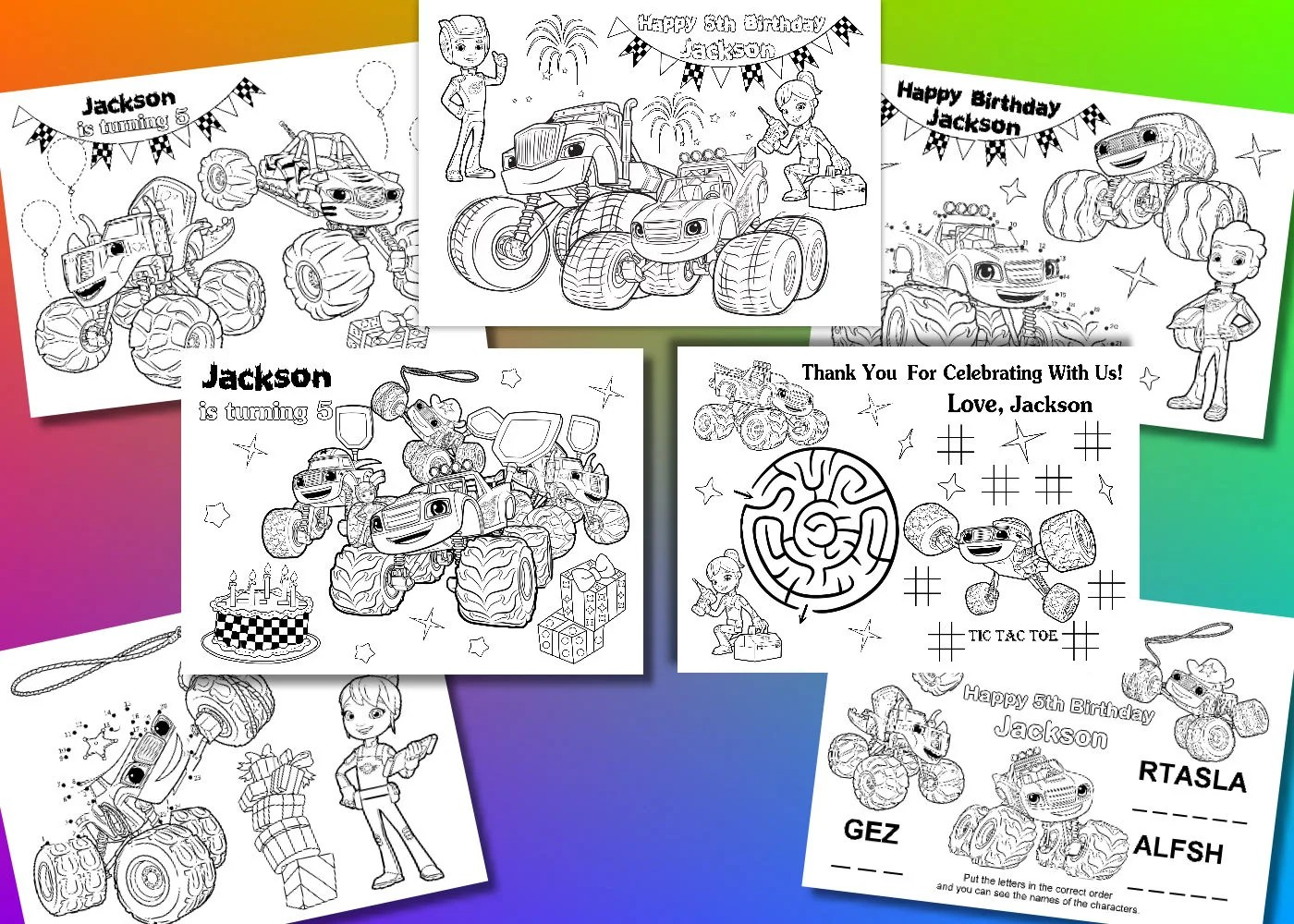 Personalized Blaze And The Monster Machines Coloring Pages
