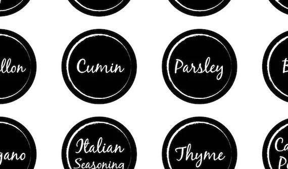 Customised & Printable Spice Jar Labels - Download