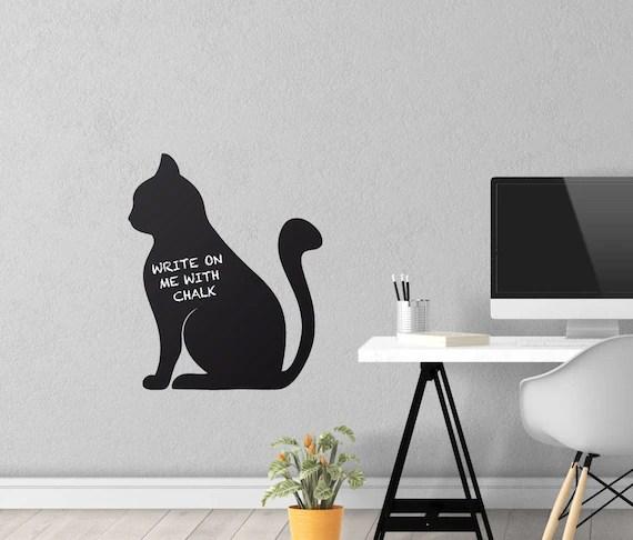 Chalkboard Cat Wall Decal by Dauka