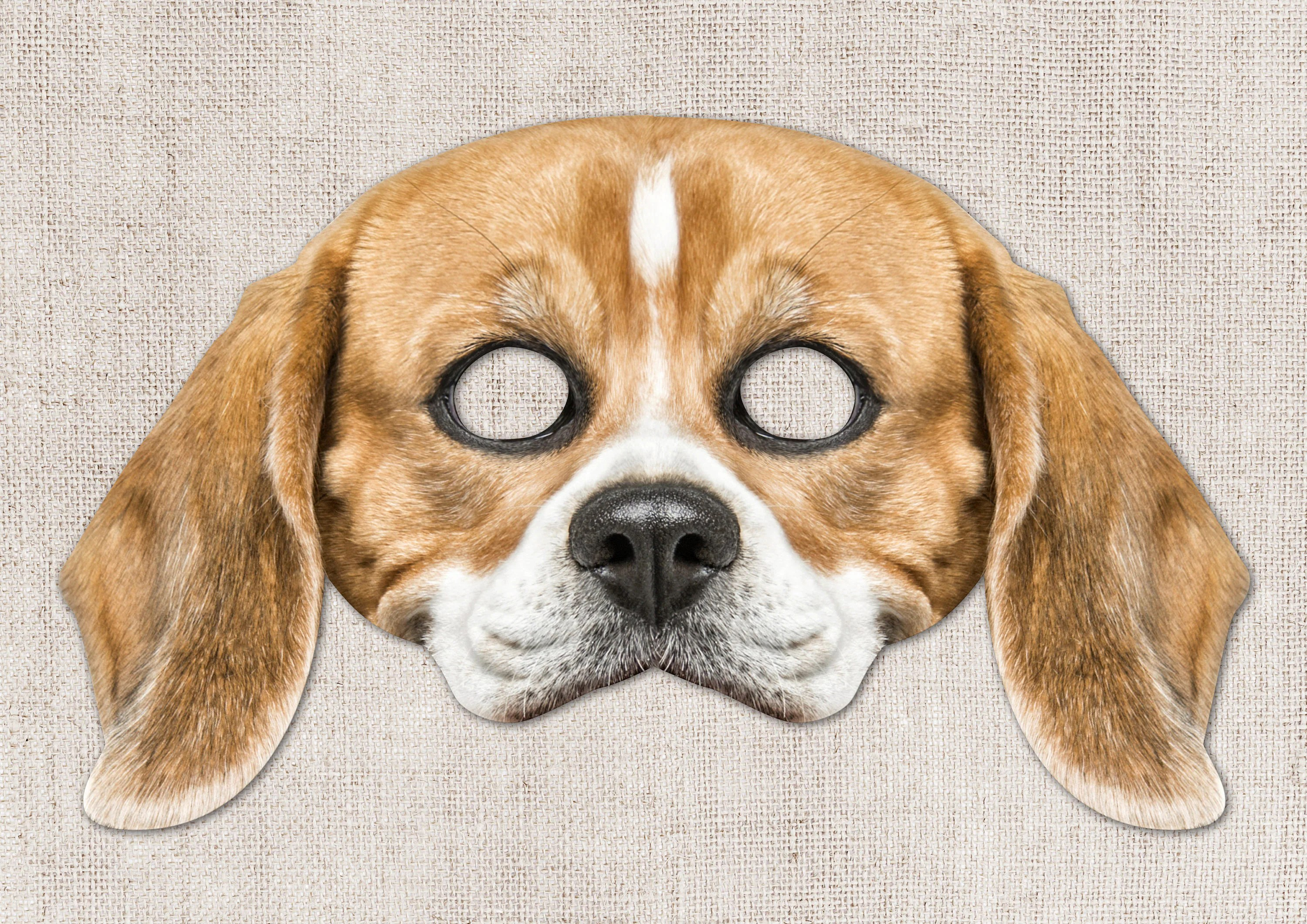 Beagle Printable Mask Dog
