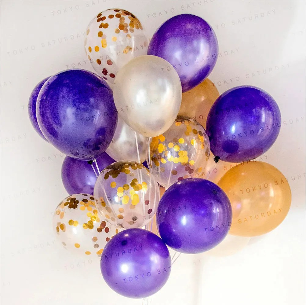 Confetti Purple Birthday Balloons Party City