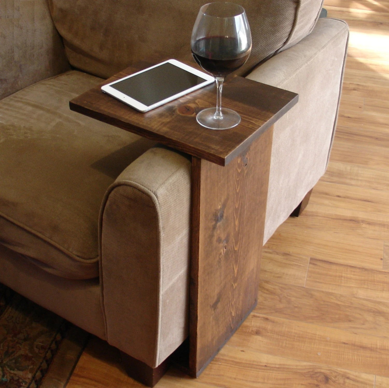 sofa arm tray wood painted kcmo chair rest table stand