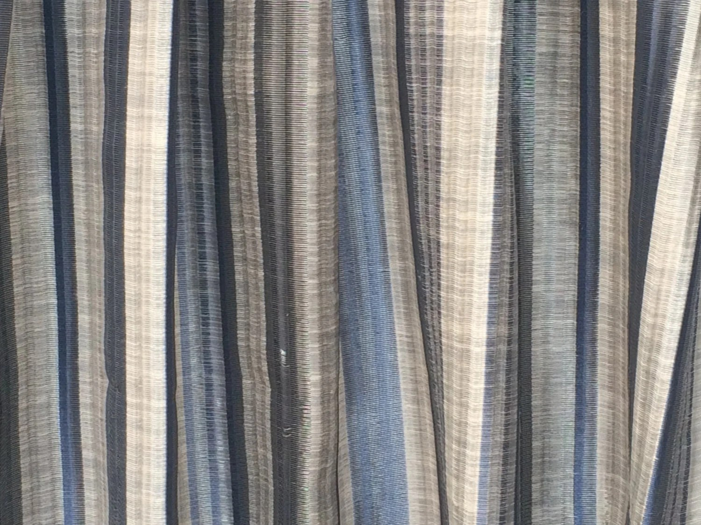 Blue Stripes Curtain Drapes Curtain Panels Custom Curtains