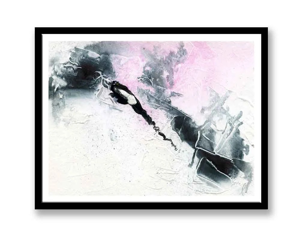 Black Abstract ink Painti...