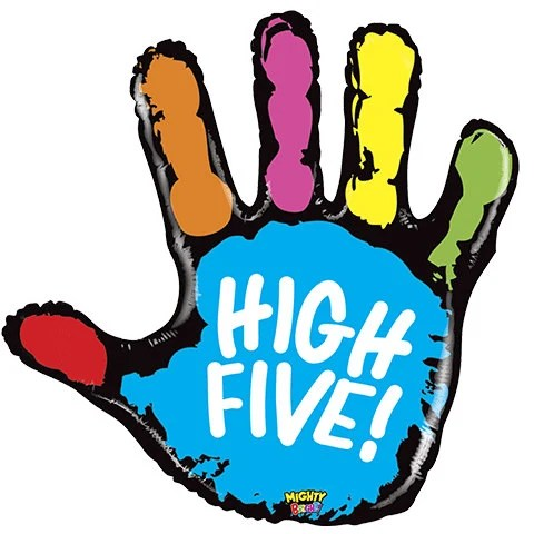 high five balloons 40