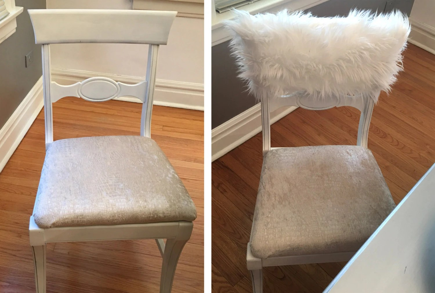 Fuzzy White Chair White Fur Chiavari Chair Caps Home Decor Style Up Your Dinning