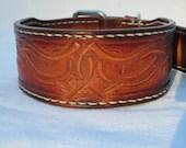 Dog collars, handmade lea...