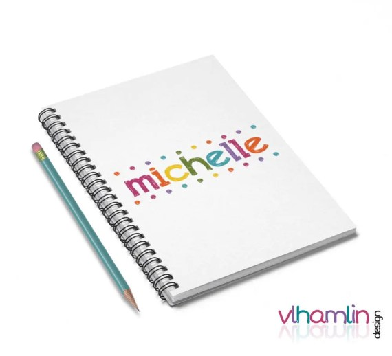 Personalized Notebooks (Colorful Lights) | VLHamlinDesign