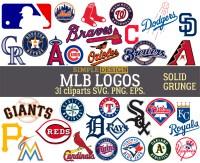 MLB team logos MLB SVG baseball team logos grunge
