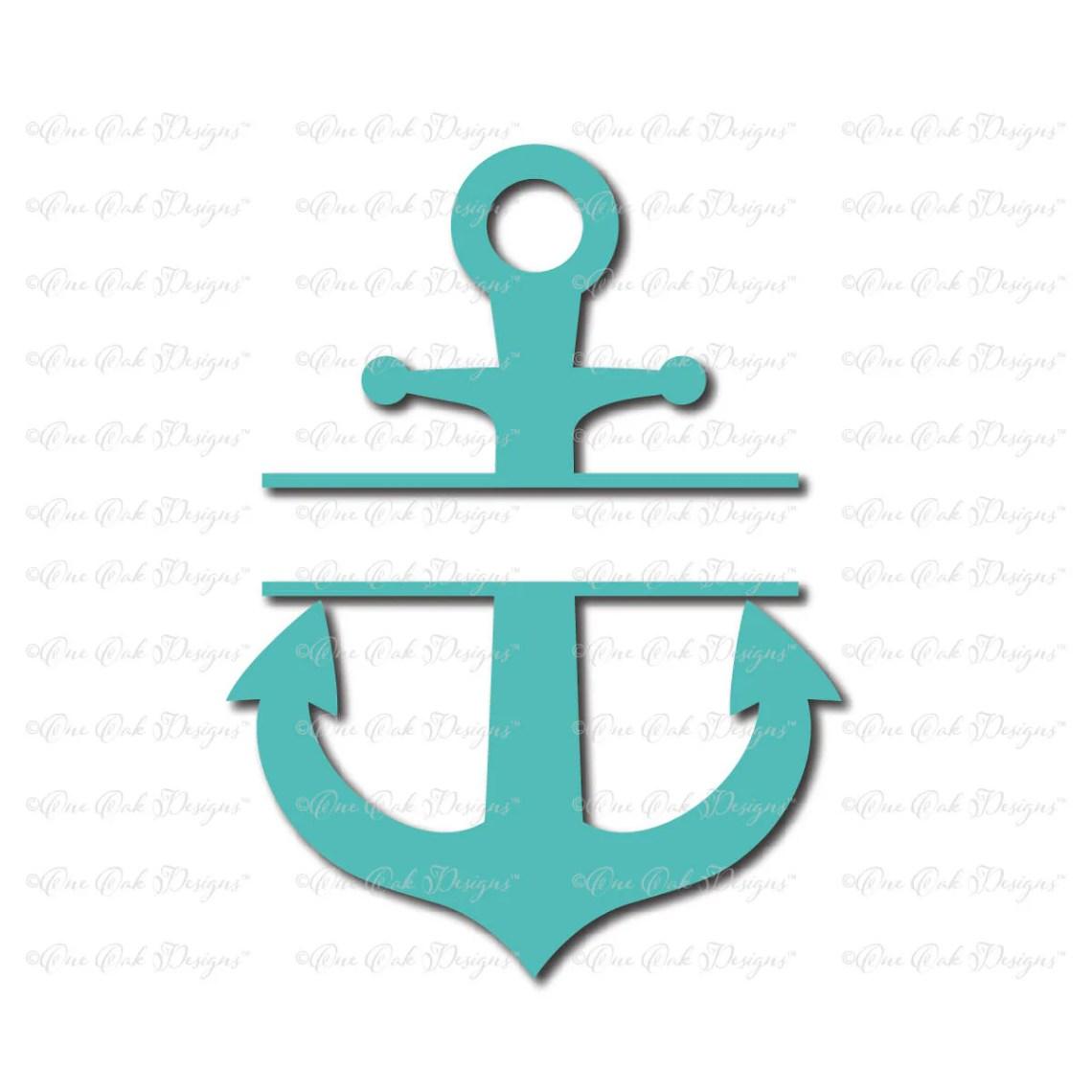Download Split Anchor SVG file svg / dxf / png / jpg / pdf for Cameo