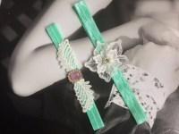 Beautiful Mint Green And Pink Wedding Garter Set Cheap Lace
