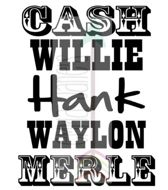 Silhouette Svg Willie Nelson