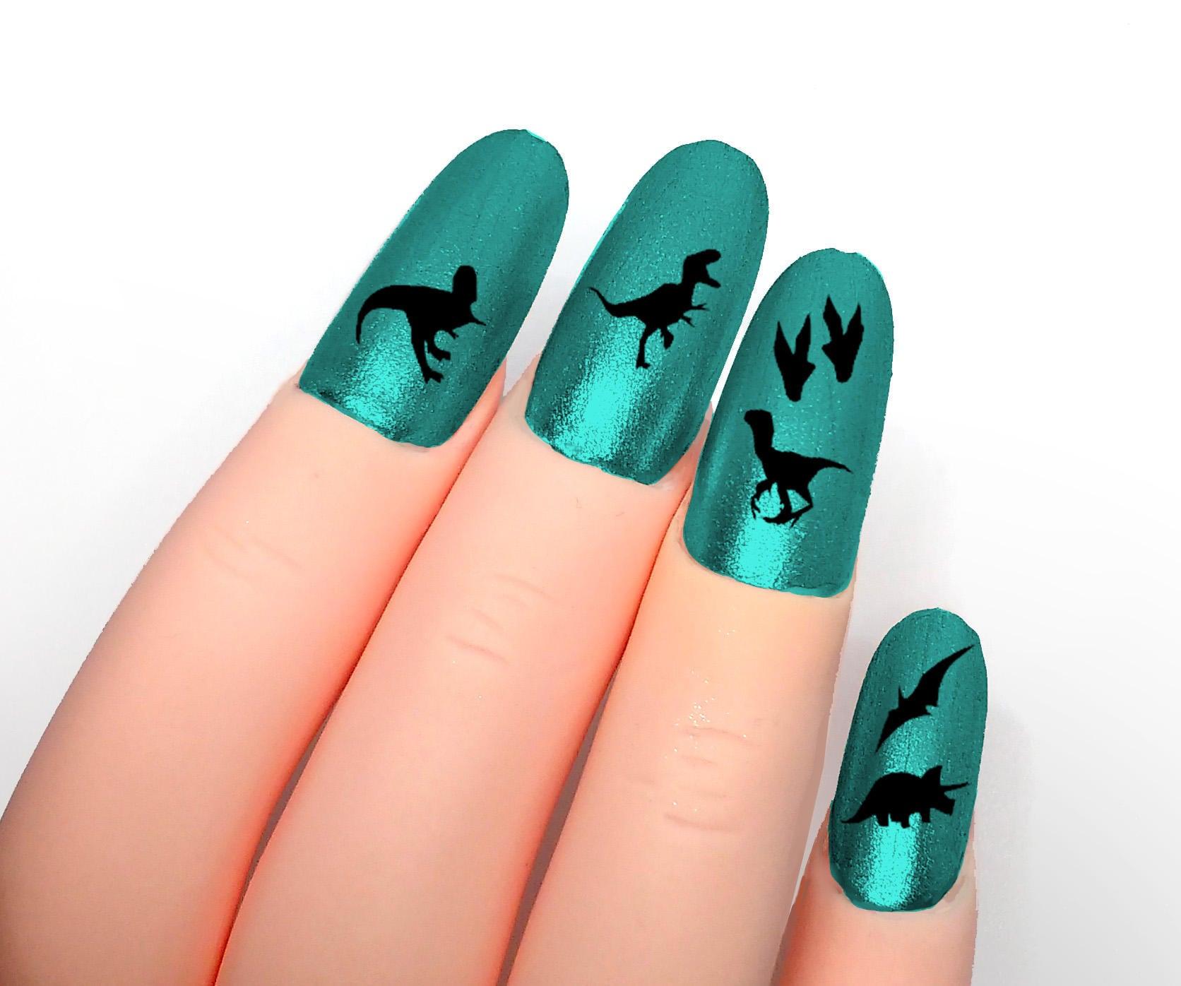 dinosaur nail sticker jurassic
