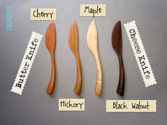 Butter Knife, Cheese Knife, Spreader HICKORY