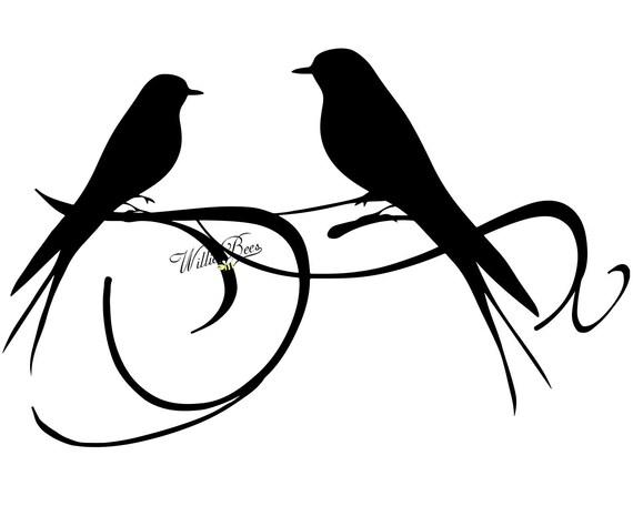 Download Love Bird SVG Bird Clipart Love Bird Silhouette Love Birds