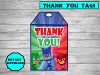 PJ masks food labels PJ masks party PJ masks birthday