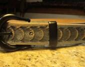 Gray leather belts, Women...