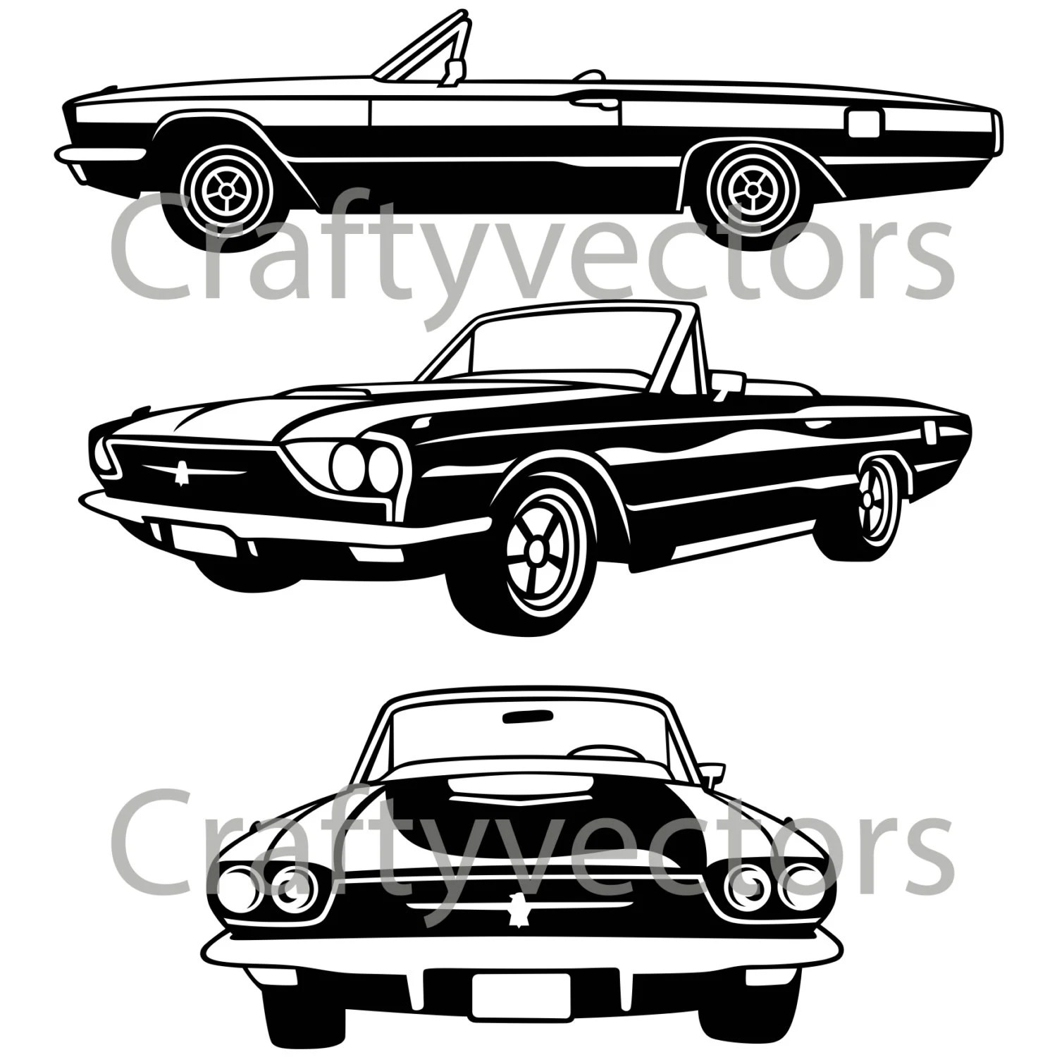 1966 Ford Thunderbird Car vector file