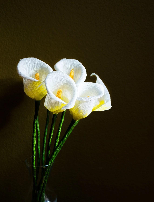 Papier Calla Lilie Blumen Blumen Dekoration Sommer