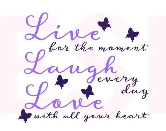 Download Live Laugh Love Quote svg SVG DXF EPS Vinyl cut file