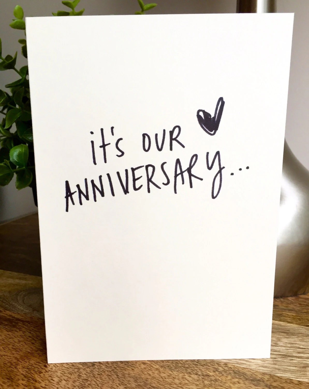 One Year Anniversary Card for husband Paper Anniversary Card