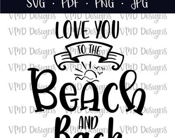 Download Beach and back love | Etsy