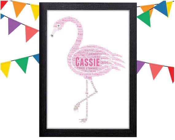 Personalised Flamingo Print