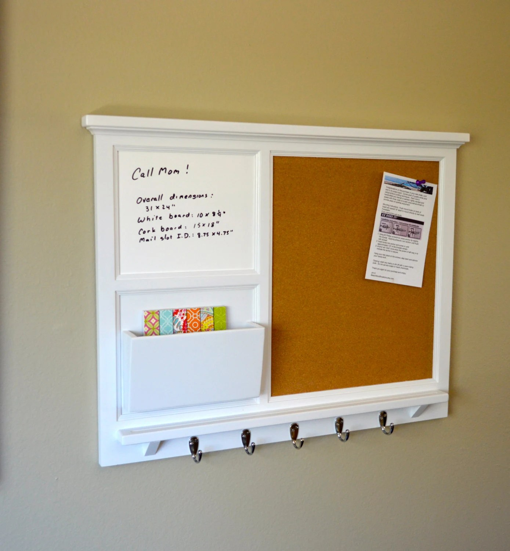 Wall Mail Organizer with Cork Board