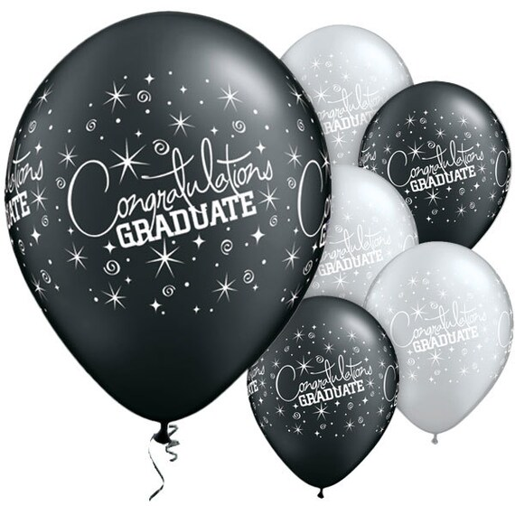 graduation balloons black