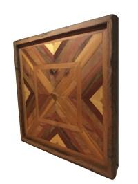 Wood Wall Hanging Geometric Art. Handmade from reclaimed ...