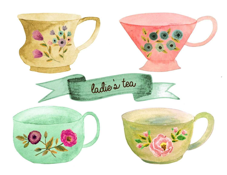Tea Clipart Party Cup Pot