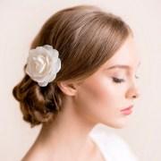 bridal hair flower rose
