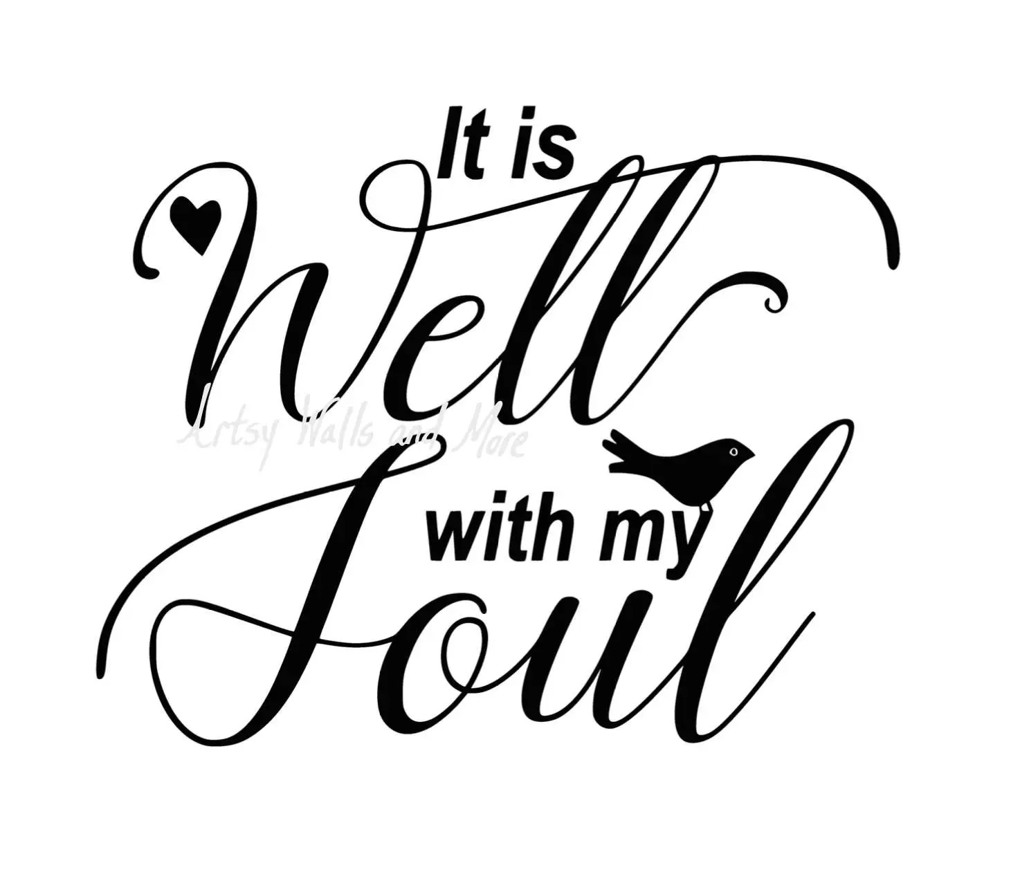 It Is Well With My Soul SVG Png Jpg CUT File It Is Well With