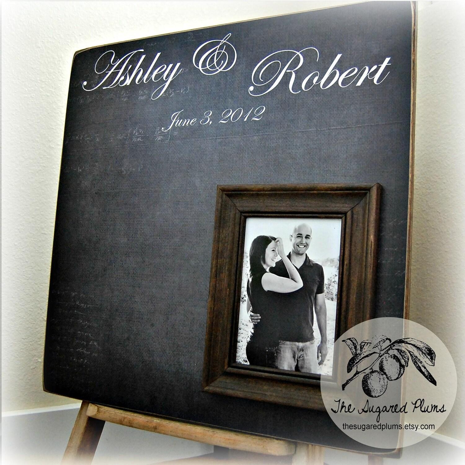 Personalized WEDDING GUEST BOOK Unique Wedding Guest Book