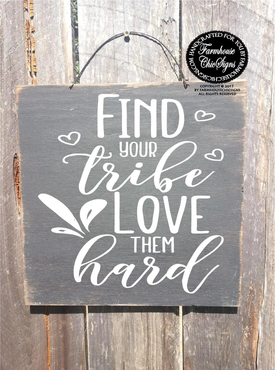 Find Your Tribe Love Them Hard Tribe Sign Gift For Friend