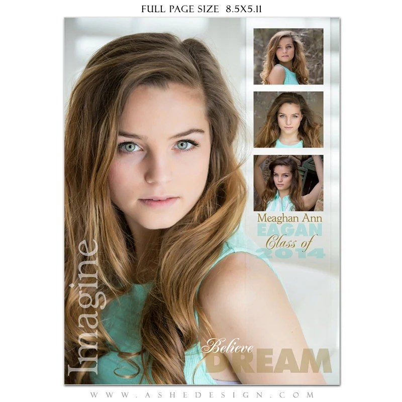 Senior Yearbook Ads Photoshop Templates SCULPTING WORDS