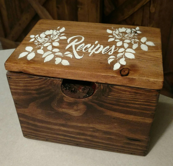 5x7 recipe box