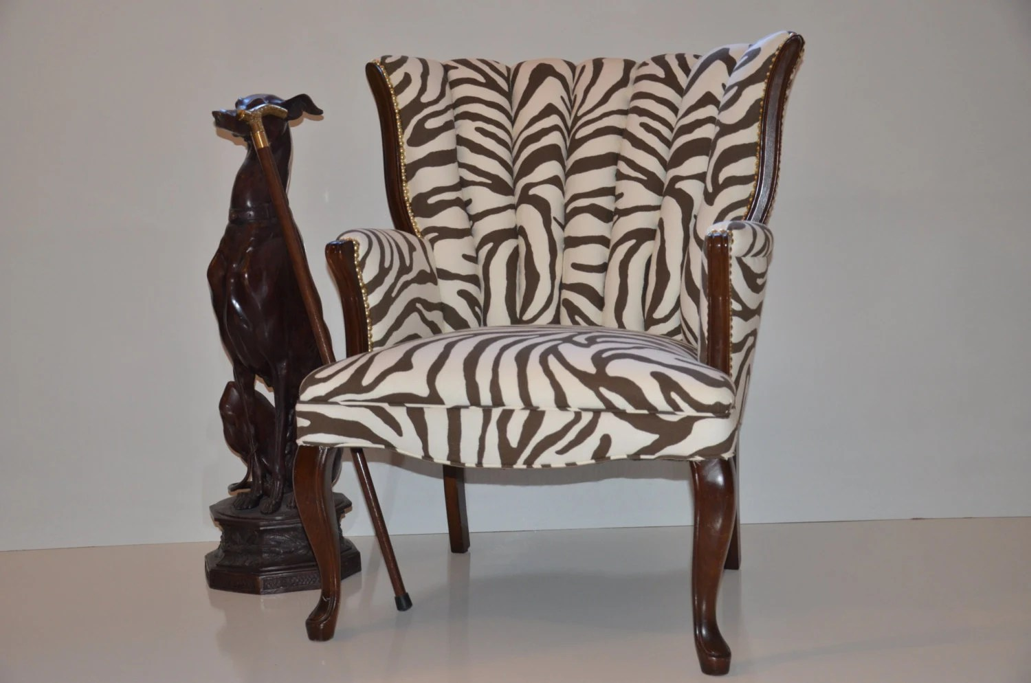 sold vintage shell chair brown