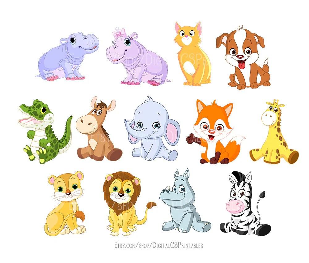 cute animal clipart kids