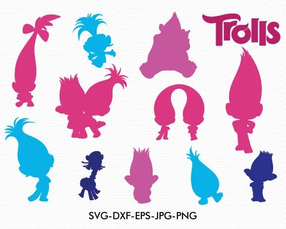 trolls silhouettes svg silhouette