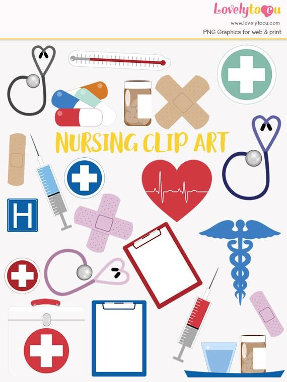 nursing clip art set hospital healthcare