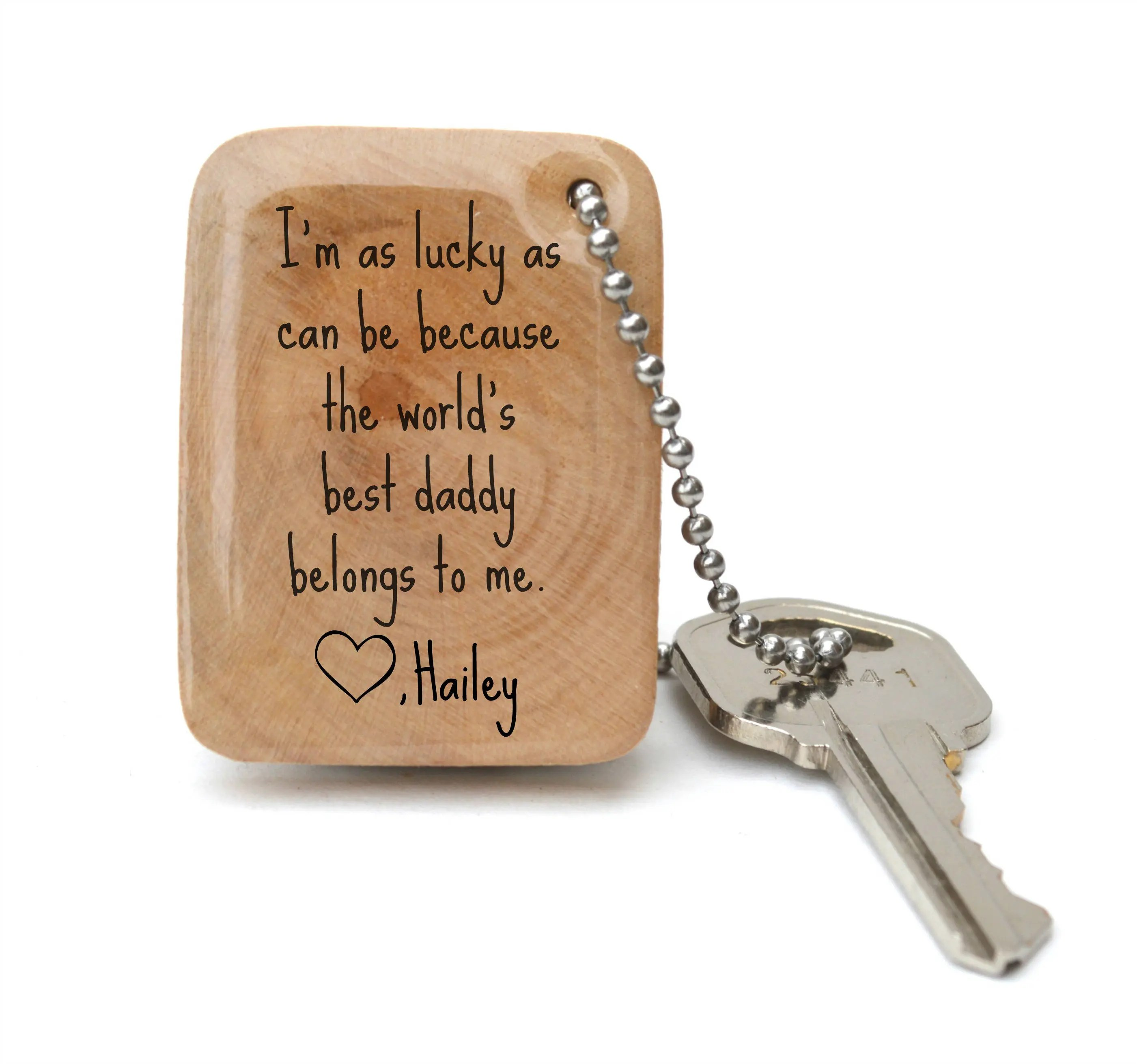 Personalized Fathers Day Keychain Gift For Dad Keychain