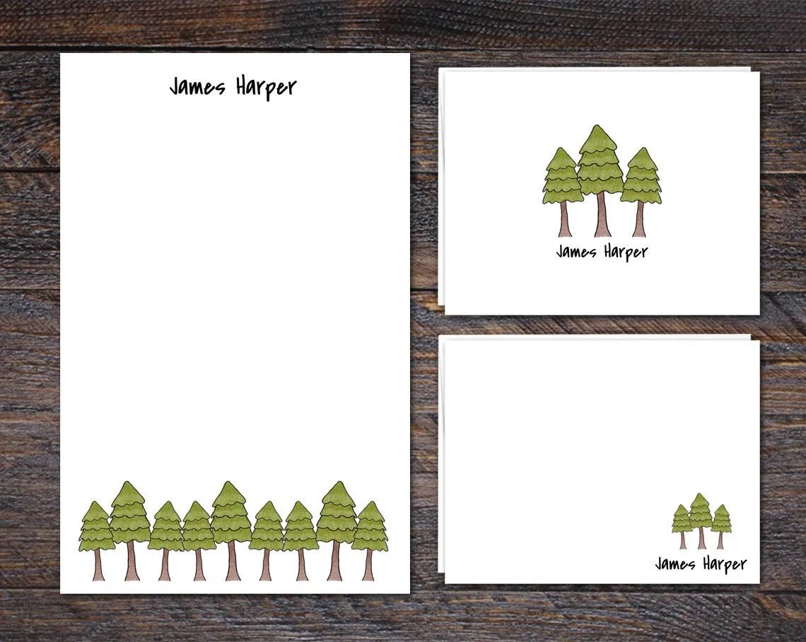 Pine Tree Stationery Set ...