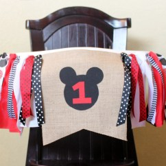 Mickey Mouse High Chair Decorations Roman Alternative Birthday Garland