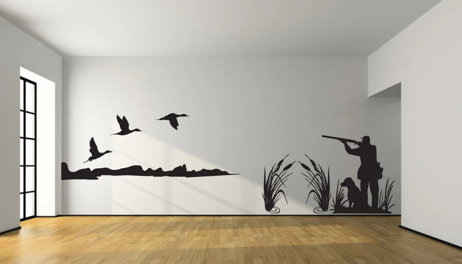 Pintail Duck Hunting Wall Decal Large Hunter And Dog