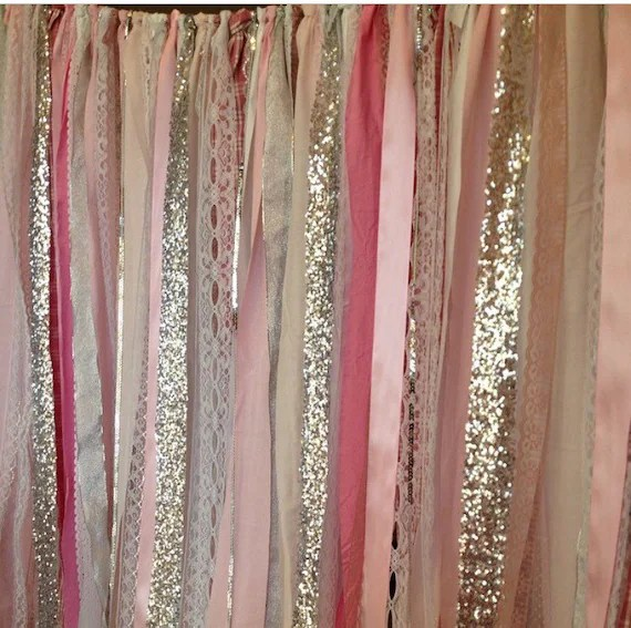 Silver Sequin Shower Curtain