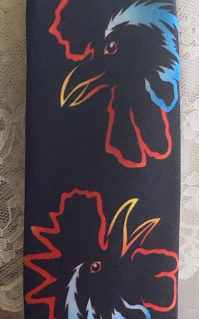 Neck tie Ralph Marlin rooster statement tie. FREE SHIPPING