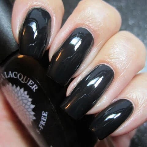 pitch black nail polish