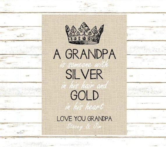 Grandpa Gift Print And Pop Into Any Frame DIY Instant