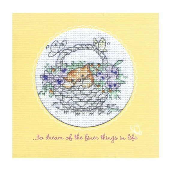 Kitten Card in Cross Stitch